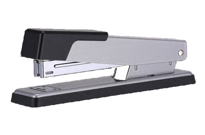 Stapler and Punch - E0360 Silver Metal Stapler