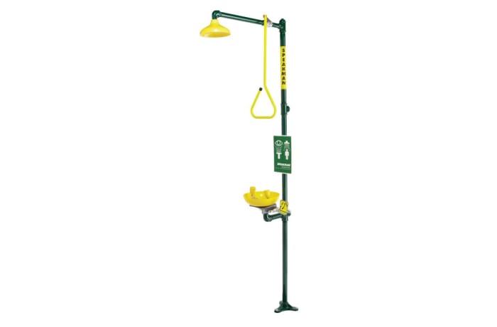 Eye Wash-Emergency Shower - Shower & Wash Basin Yellow