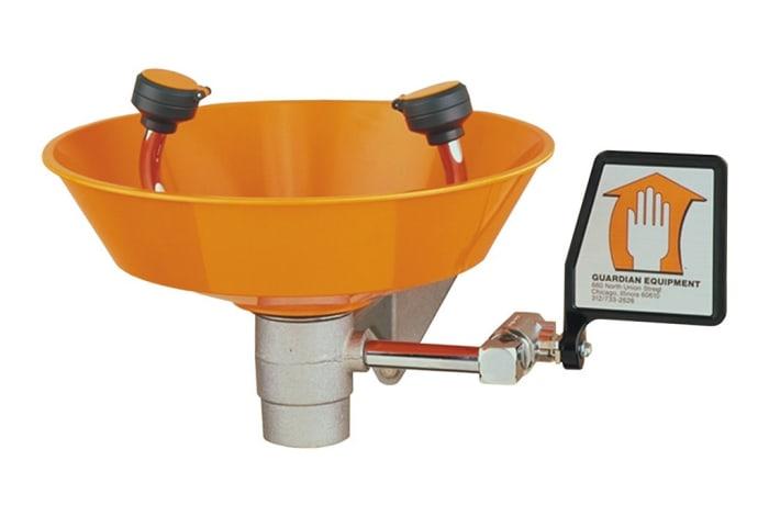 Eye Wash-Emergency Shower - Wash Basin orange