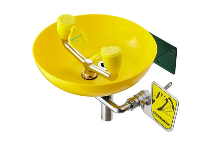 Eye Wash-Emergency Shower - Wash Basin yellow