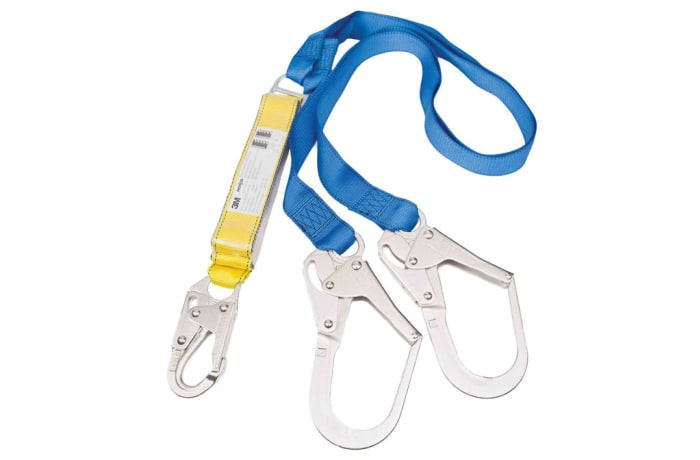 Fall Protection - Spare Lanyard with shock absorber scaffolding hooks