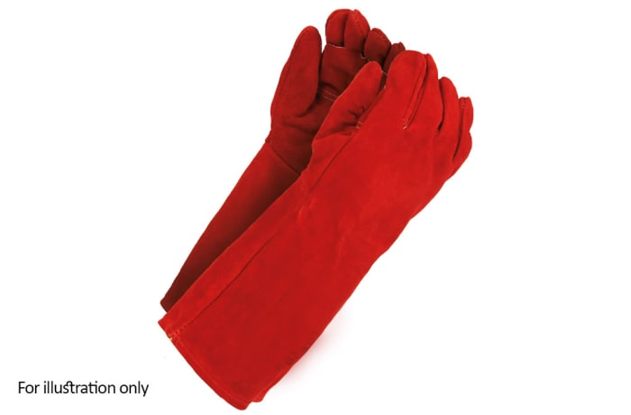 Hand Protection - Red heat resistant gloves