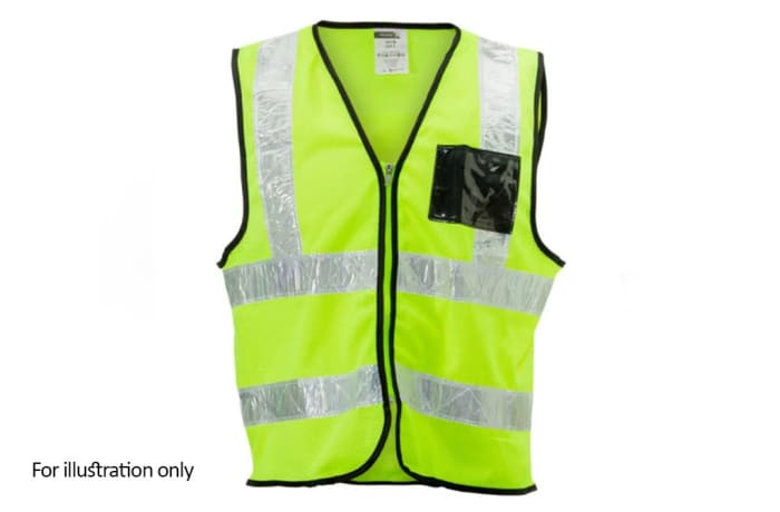 Specialised Clothing -  Hi Vis & Freezer Jackets - Hi Vis Lime reflective vest with ID