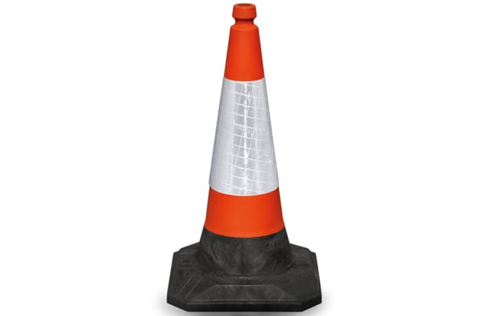 Warning Devices - Orange Road Cone with white reflective sleeve