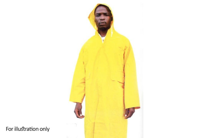 Water Proof Clothing - PVC Raincoat yellow
