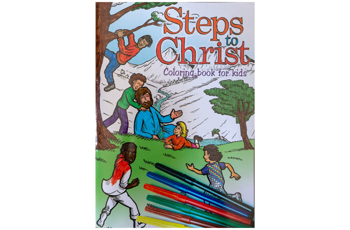 Steps to Christ Colouring Book for Kids