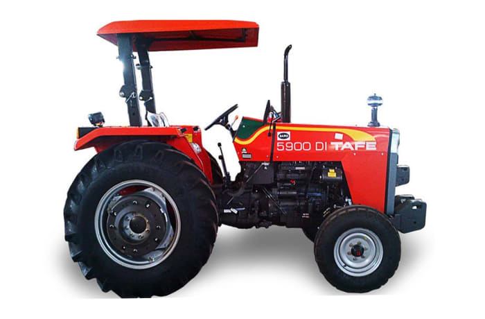 Tractor TAFE 5900 59HP 2WD fitted W/S433 engine W/Canopy