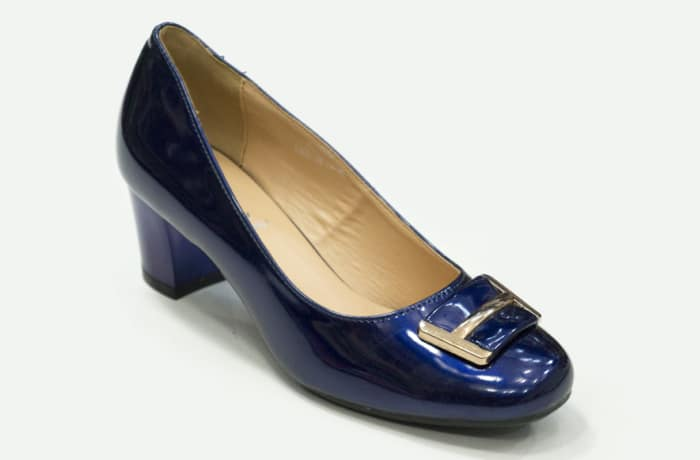 TS - Medium Chunky Heels Blue