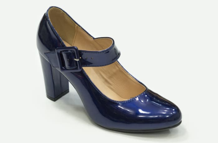 TS - Medium Chunky Heels Blue with strap