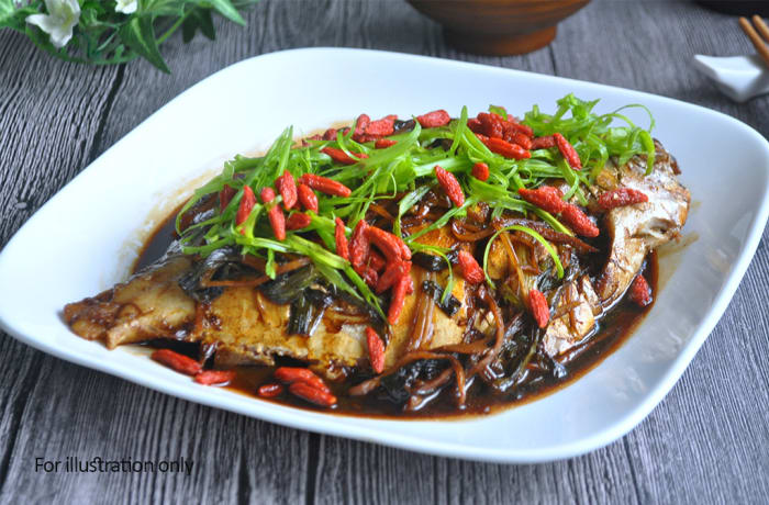 Jacaranda - Chinese Specialities -  Braised Bream and Bean Curd with Chili Sauce