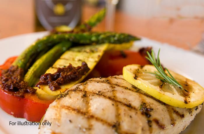 Jacaranda - Wellness Menu - Grilled Chicken with Boiled Vegetables
