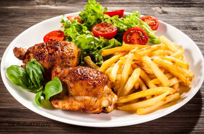 Jacaranda - International Panorama - Roast Chicken and Chips