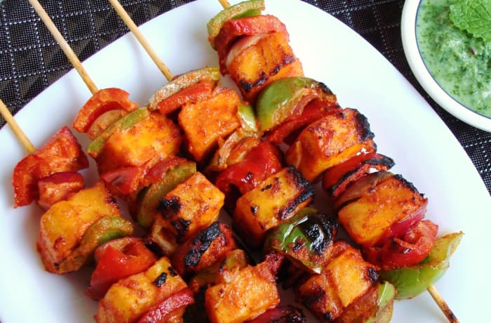 Steaks and Grills - Indian Specialties - Achaari Paneer Tikka