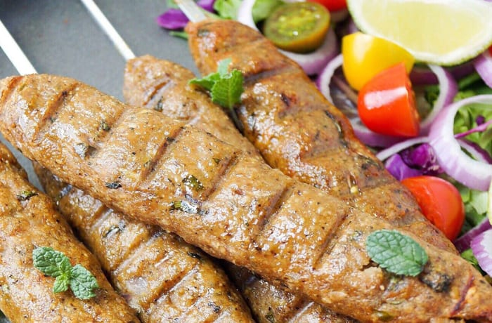 Steaks and Grills - Indian Specialties - Murg Reshmi seekh