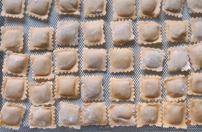 Tansi Kitchen -Fresh pasta: Butternut and Sage Ravioli