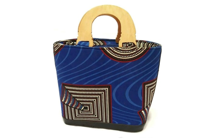 Africa print cloth bucket handbag