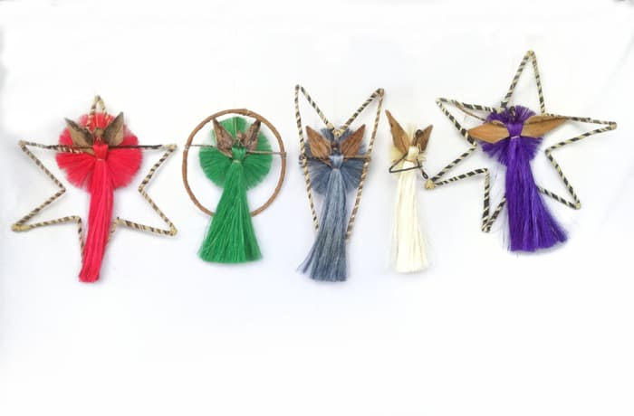 African Angels Christmas Tree Decorations