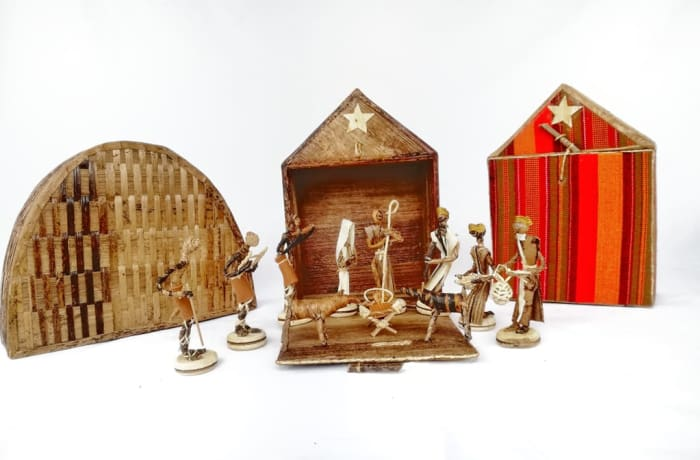 African Christmas Nativity Scene with background