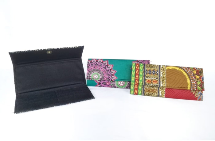 Purses in African print