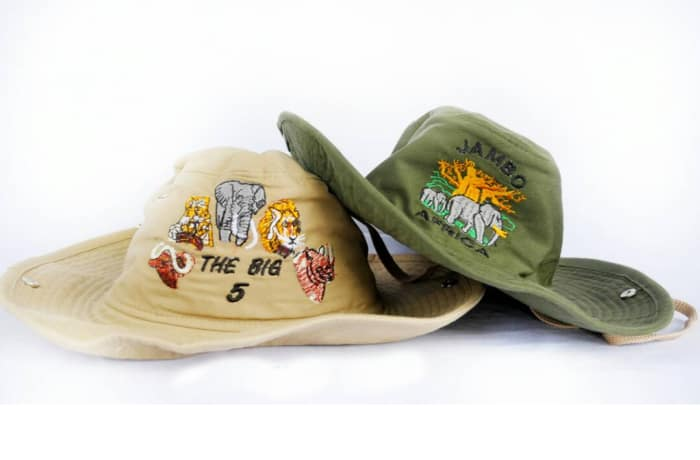 African wildlife themed hats