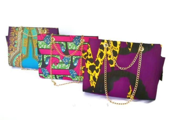 Chitenge material handbags