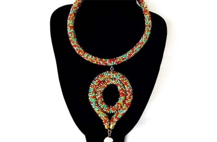 Multi-Coloured Masai Pendant Necklace
