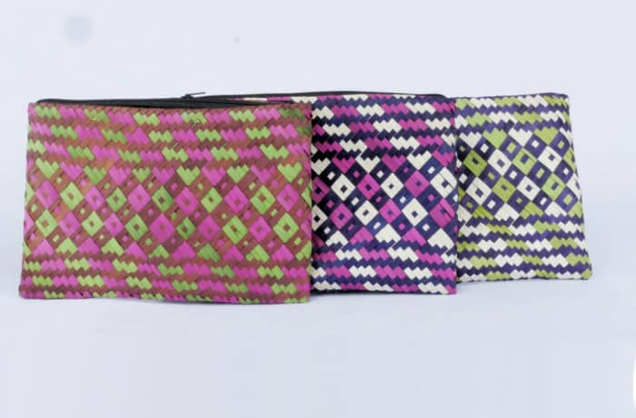 Hand Painted Straw Coin Purses