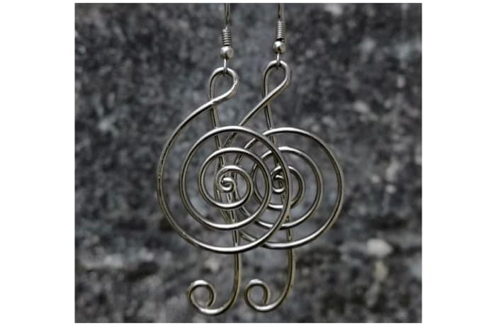 Silver Musical Notes Earrings