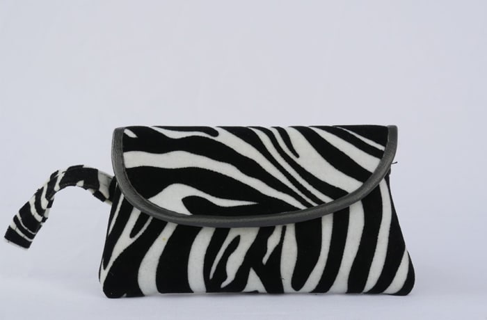 Zebra Print Clutch Bag