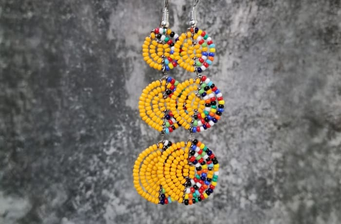 Beaded Earrings - Yellow and Colours