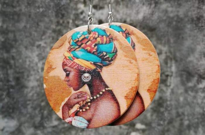 Painted Earrings - Woman Traditional