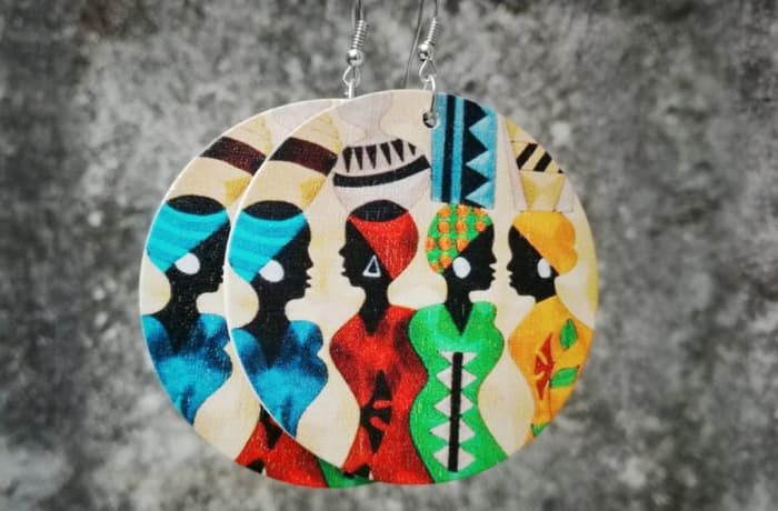 Painted Earrings - Women Traditional