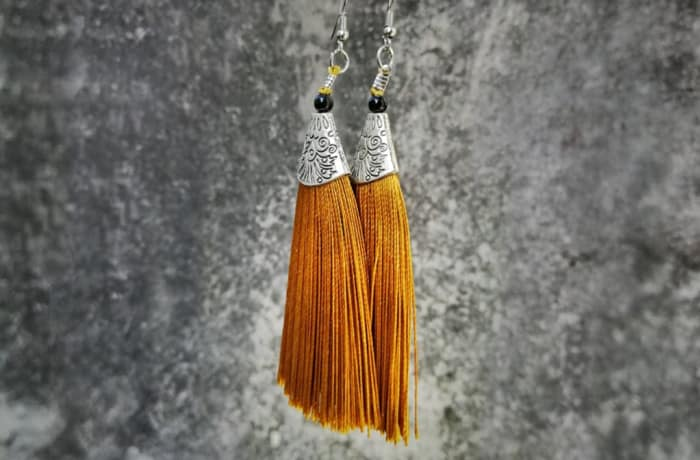 Tassels Earrings - Orange