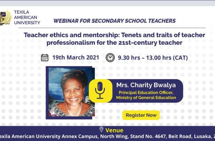 Webinar For Secondary School Teachers image