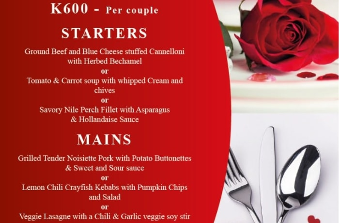 Treat your special one this Valentine's Day as you savor the moment with good food image