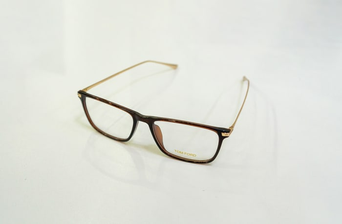 Tom Ford Full Rim Eyeglass Frames - Gold & Brown