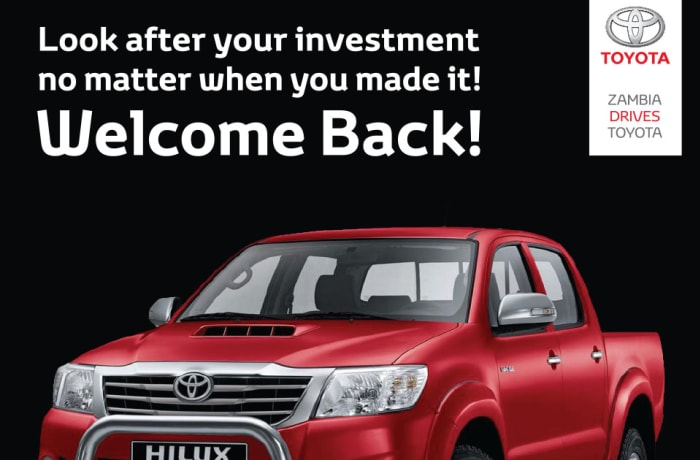 Hilux Welcome back offer image