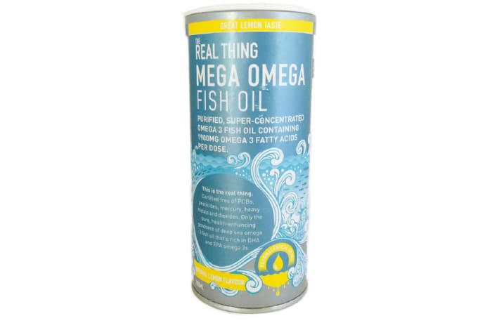 The Real Thing Mega Omega Fish Oil (Natural Lemon Flavour)