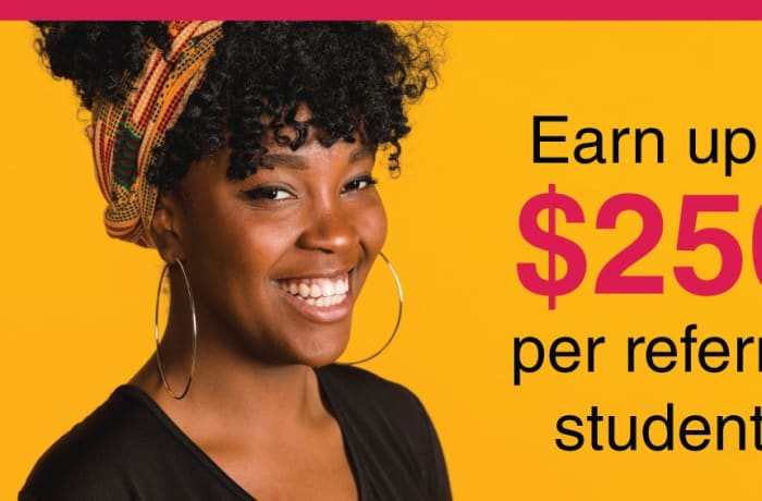 Earn up to $250 per referred student image