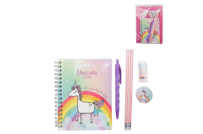 Unicorn Love Stationery Set