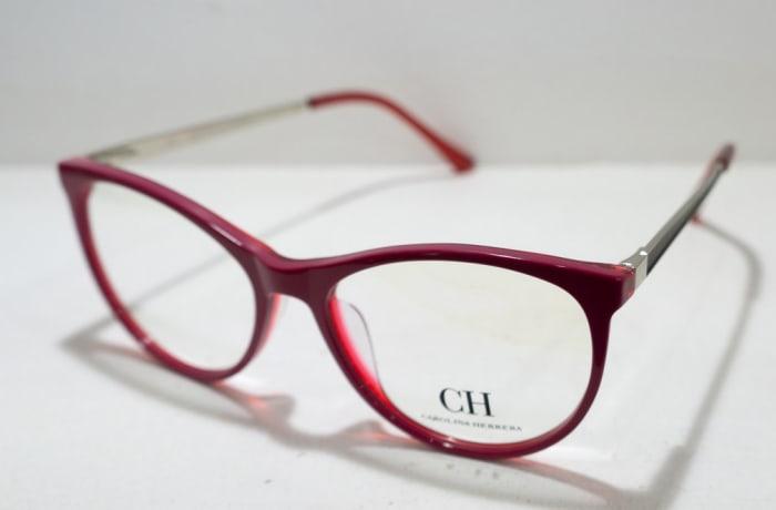 Carolina Herrera Full Rim Eyeglass Frames - Red & Silver