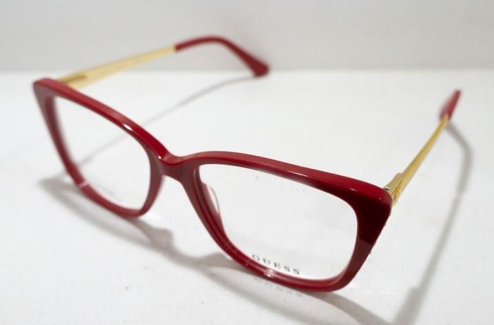 Guess Full Rim Eyeglass Frames  - Maroon & Gold
