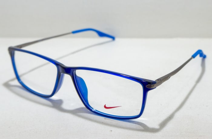 Nike Full Rim Eyeglass Frames - Blue & Grey