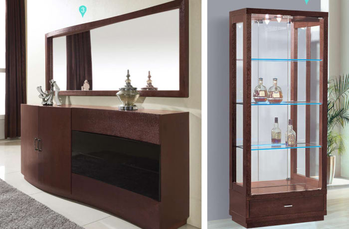 Wall mirror, Dining cabinet & Display cabinet 6326