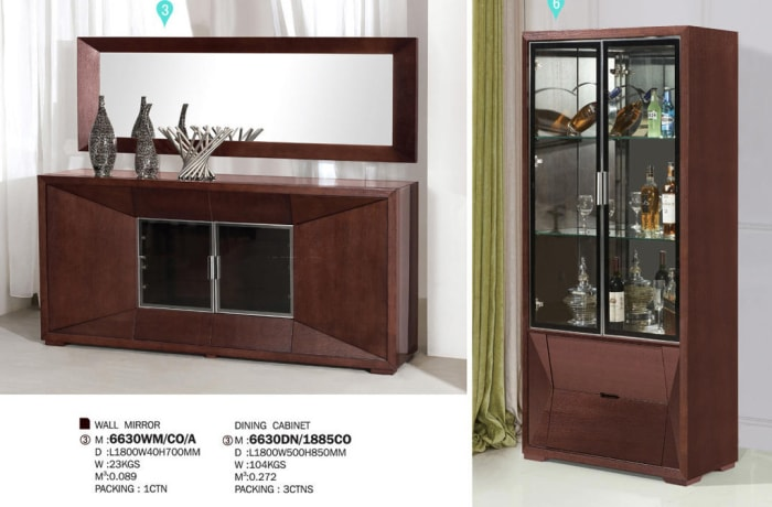 Wall mirror, Dining cabinet & Display cabinet 6630