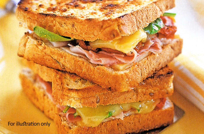 Weavers Nest - Toasted Sandwiches - Ham & Cheese