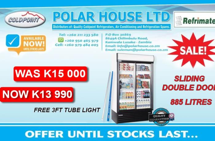 Special offer on 885 litres sliding double door fridge image