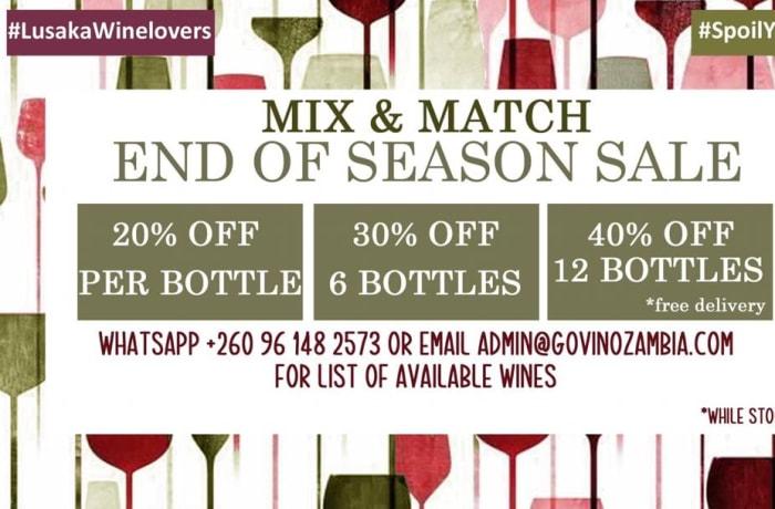 End of season sale on wine image