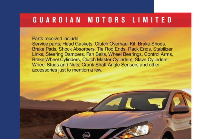 Nissan Genuine parts available in stock image