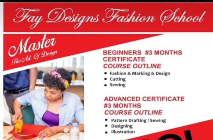 Enroll now in fashion design and tailoring - classes from beginner to advanced  image